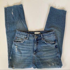 Zara Premium Denim High Waisted Mom Jeans